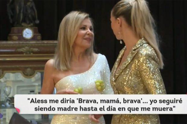 Ana Obregón y Anne Igartiburu durante la promoción de las Campanadas 2020./RTVE