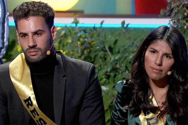 Isa Pantoja y Asraf Beno concursando en 'La casa fuerte 2'./Telecinco
