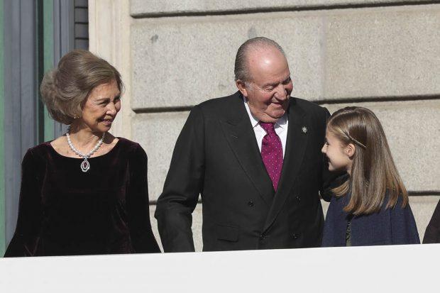 Leonor de Borbón, reina Sofía, rey Juan Carlos