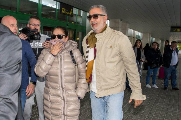 La cantante Isabel Pantoja y Agustín Pantoja