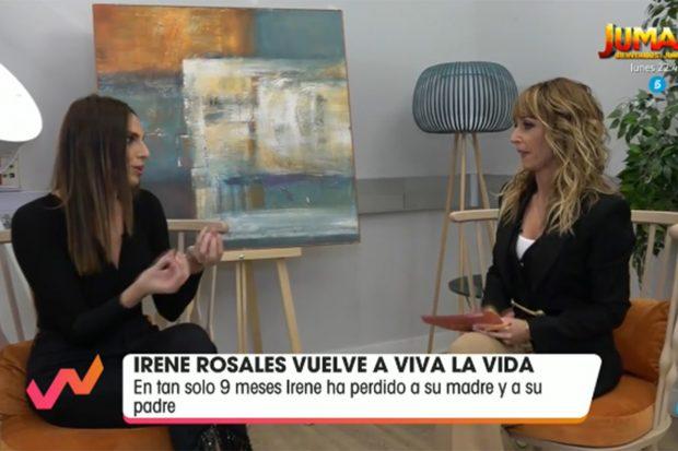 Irene Rosales reaparece en 'Viva la vida'./Telecinco