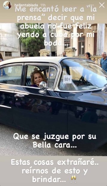 Elena Moure en Cuba./Instagram @Elena Moure en la preboda de su nieta./Instagram @Preboda de Elena Tablada en Cuba./Instagram @hellentablada