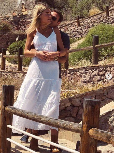Ana Soria y Enrique Ponce disfrutando de sus vacaciones de verano 2020./Instagram @anasoria.7