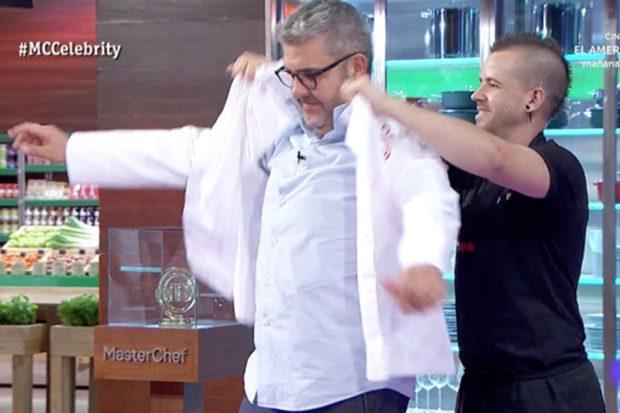 Florentino Fernández fue el primer duelista de la noche tras la prueba dirigida por Dabiz Muñoz/RTVE