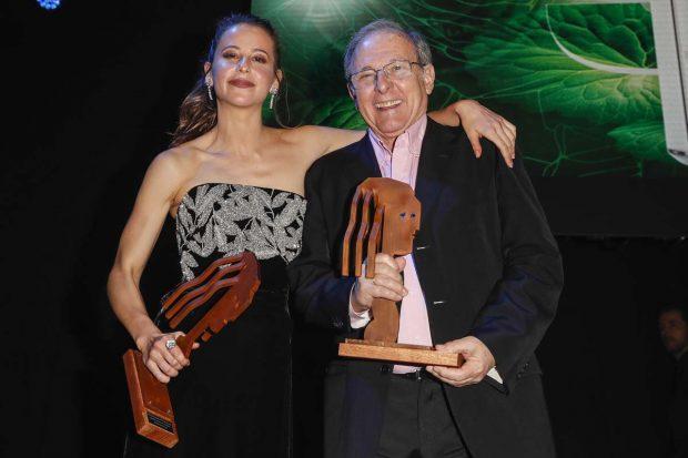 La actriz y su tío, premiados en la gala de los Premios Fotogramas del año pasado/Gtres