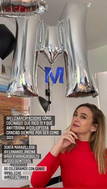 Marta Hazas celebró la alegría de sus amigos y agradeció a Carolina Adriana Herrera su buen hacer como anfitriona/@martahazas