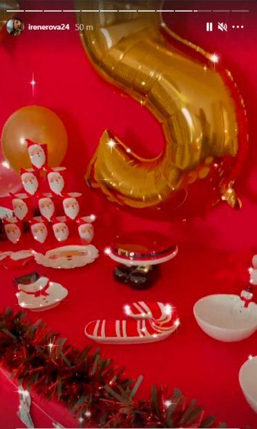 Irene ya lo tiene todo preparado para la celebración del cumpleaños de su hija mayor/@irenerova24