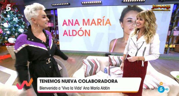 El nuevo trabajo de Ana María Aldón en 'Viva la vida' ha suscitado la polémica en la familia/Mediaset