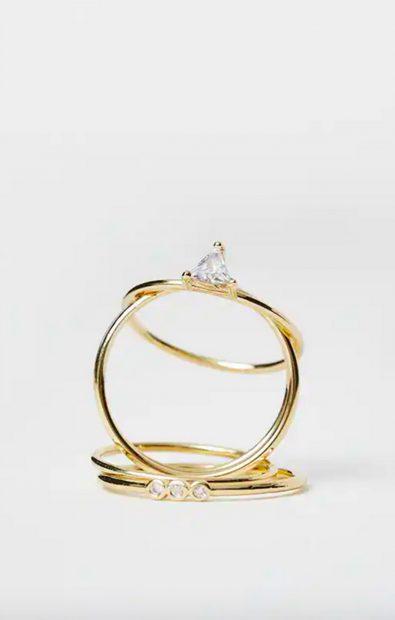 Pack de anillos de la nueva colección de Pull & Bear./ Pull & Bear