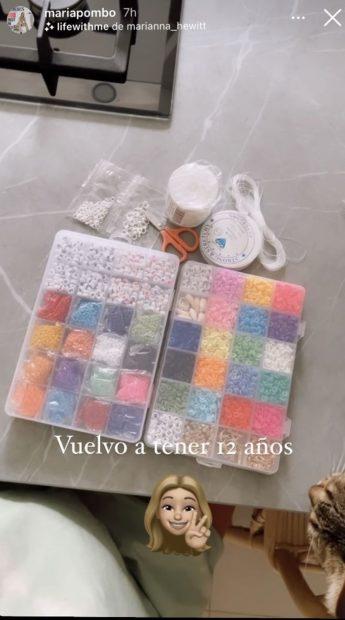 Pack de abalorios de María Pombo./Instagram @mariapombo