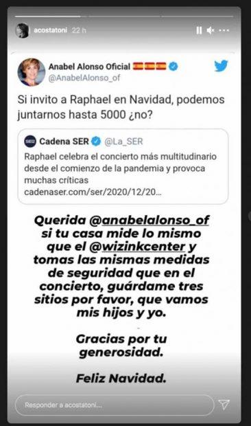 Toni Acosta y Anabel Alonso se enzarzan por culpa de Raphael