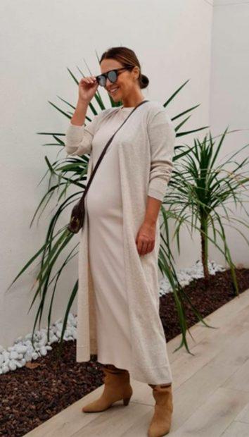 Es un referente de moda entre otras futuras mamás/@pau_eche