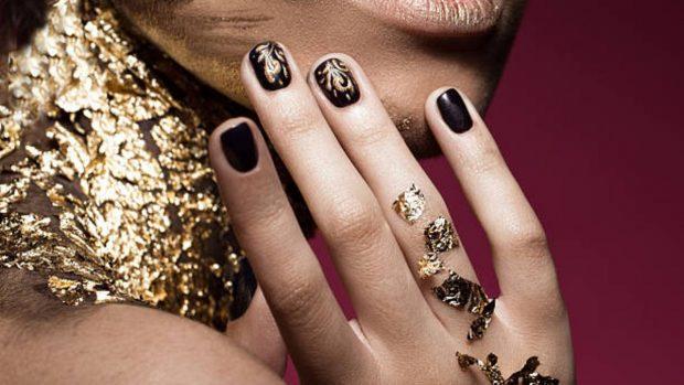glitter uñas