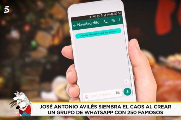 Grupo de Whatsapp creado por Avilés./'Socialité'