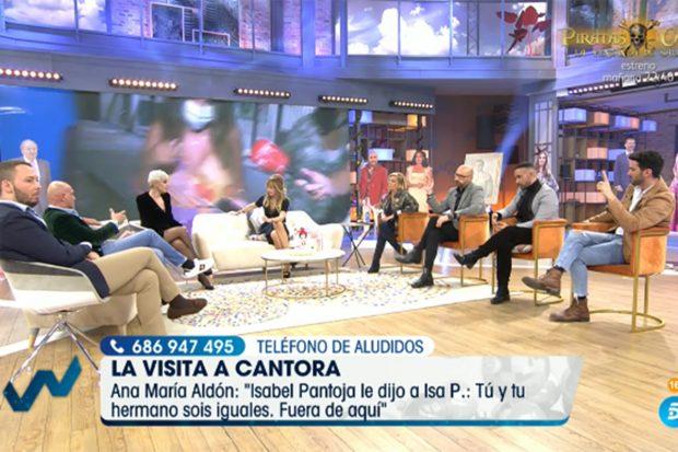 Ana María Aldón afirma que Isabel Pantoja discutió con Isa P./'Viva la vida'