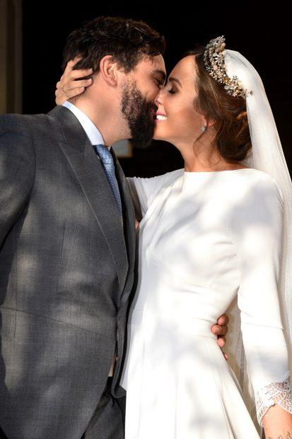 Rocío Osorno y Jacobo Robatto el día de su boda./Gtres