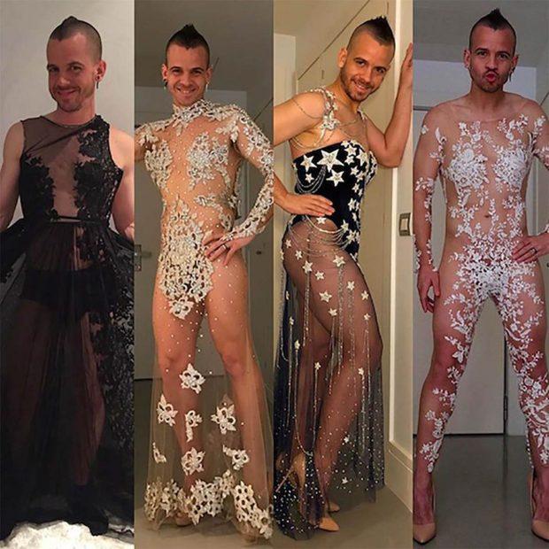 Dabiz Muñoz acostumbra a ponerse los vestidos de Nochevieja de su mujer / Instagram