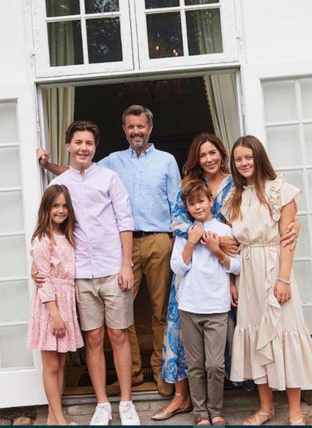 Federico de Dinamarca, Princesa Mary y sus hijos