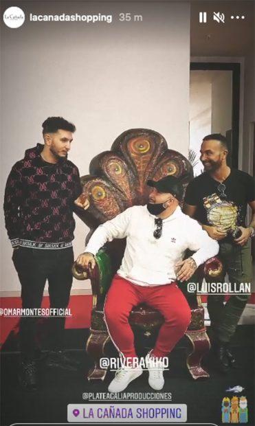 Kiko Rivera, Luis Rollán y Omar Montes se han convertido en Reyes Magos en el centro comercial La Cañada Shopping./Instagram @lacanadashopping