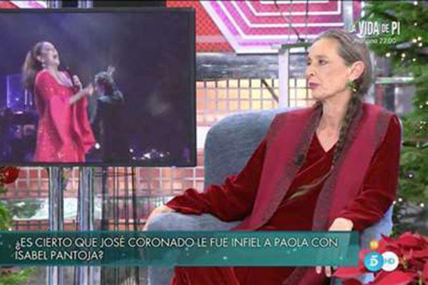 Paola Dominguín en 'Sábado Deluxe'./Telecinco