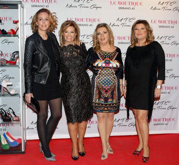 Rocío Carrasco, Terelu Campos, María Teresa Campos, Carmen Borrego, José Carlos Bernal