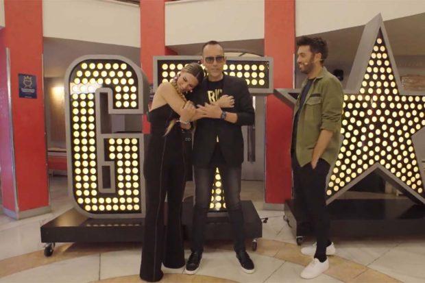 Risto Mejide, Edurne y Dani Martínez en 'Got Talent'./Mediaset