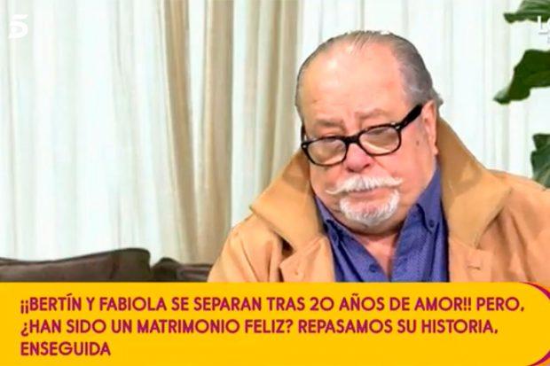 Arévalo es optimista de cara a una posible reconciliación entre Fabiola y Bertín / Telecinco
