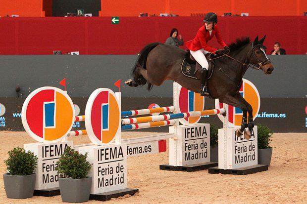 Marta Ortega, a lomos de uno de sus caballos / Gtres