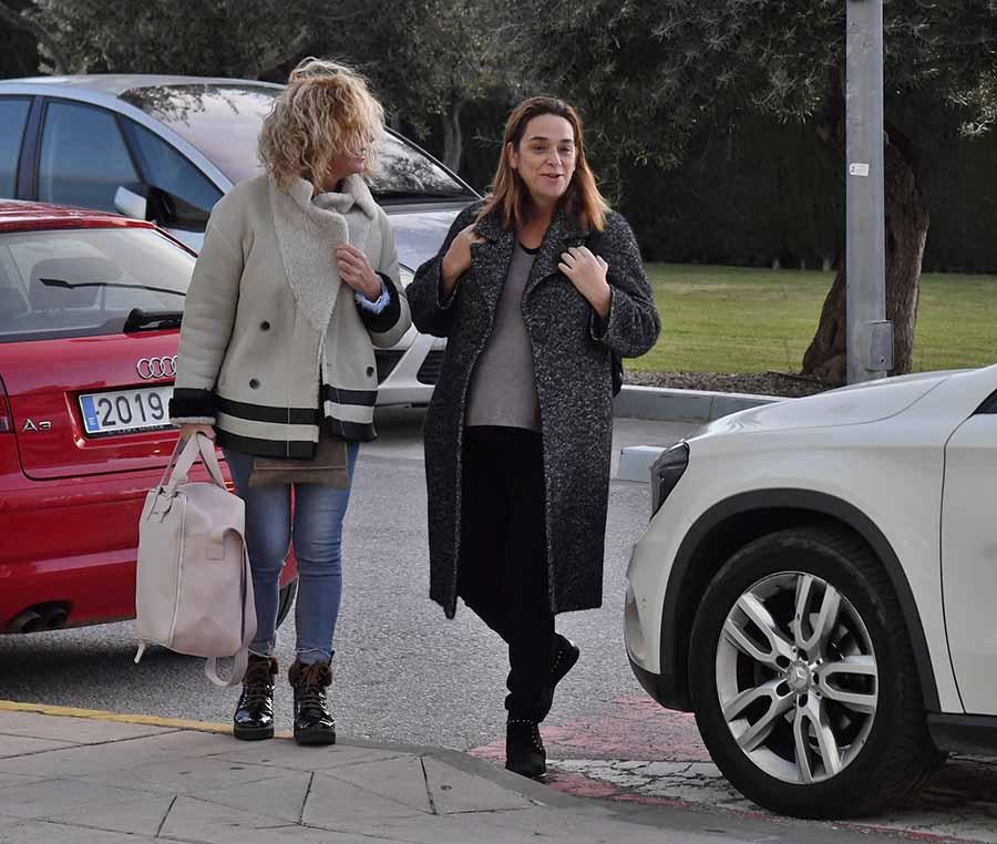 Toñi Moreno a su llegada al hospital donde ha nacido la pequeña Lola / GTRES