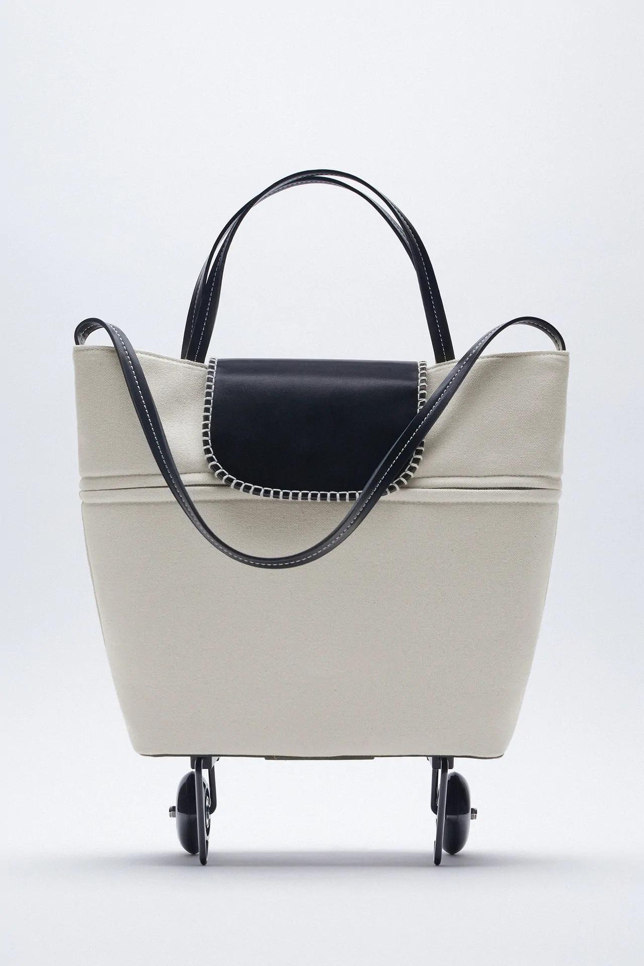 ¿Carro de la compra o bolso con estilo? Zara presenta el carro-bolso definitivo