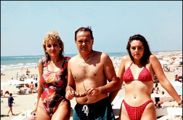 Pedro Carrasco, Rocío Carrasco y Raquel Mosquera, durante unas vacaciones / Gtres