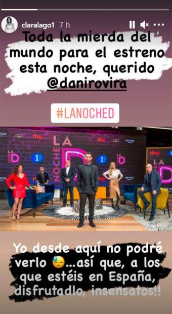 Clara Lago arropa a Dani Rovira / Instagram