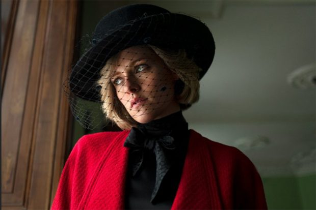 Kristen Stewart interpretando a 'Lady Di'./Neon