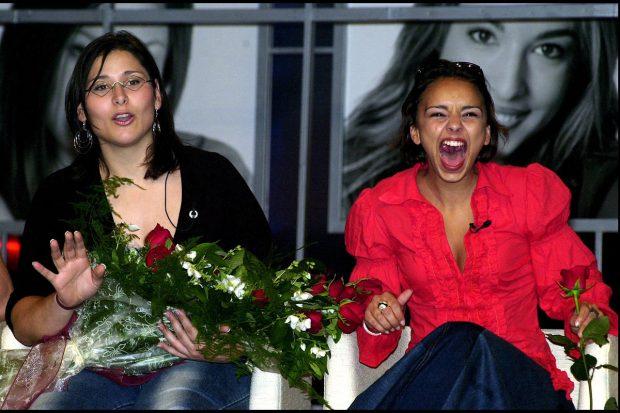 Chenoa y Rosa López en una rueda de prensa tras su paso por 'Operación Triunfo'./Gtres