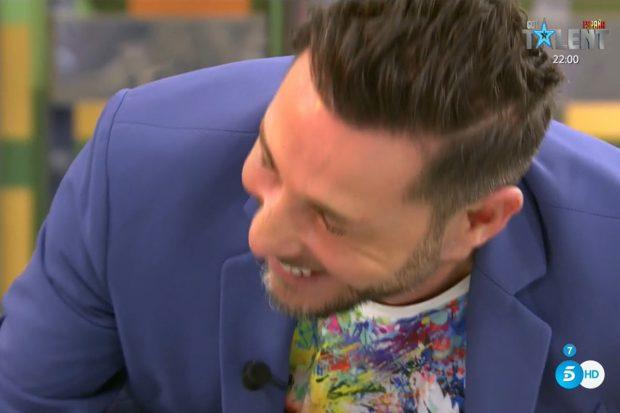 Antonio David Flores se ríe cuando Jorge Javier le dice que qué retoque estético se ha hecho./'Sálvame'