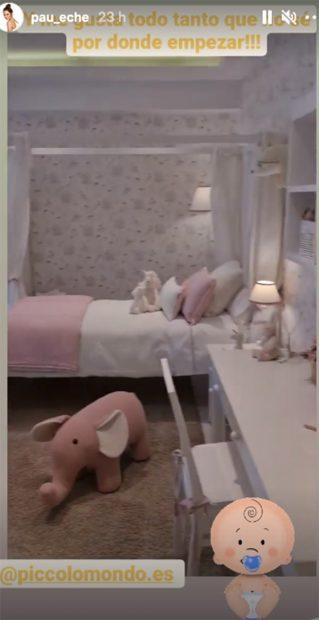 Paula Echevarría está buscando los muebles de la habitación de su futuro bebé./Instagram @pau_eche