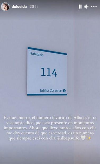 Dulceida ha relatado cómo ha vivido el ingreso de su mujer, Alba Paul./Instagram @dulceida