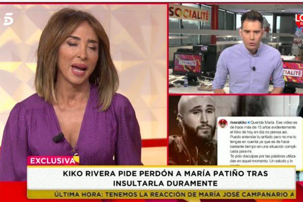 María Patiño acepta las disculpas de Kiko Rivera./'Socialité'