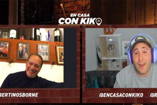 Kiko Rivera estrena programa, 'En casa con Kiko'./Twitch