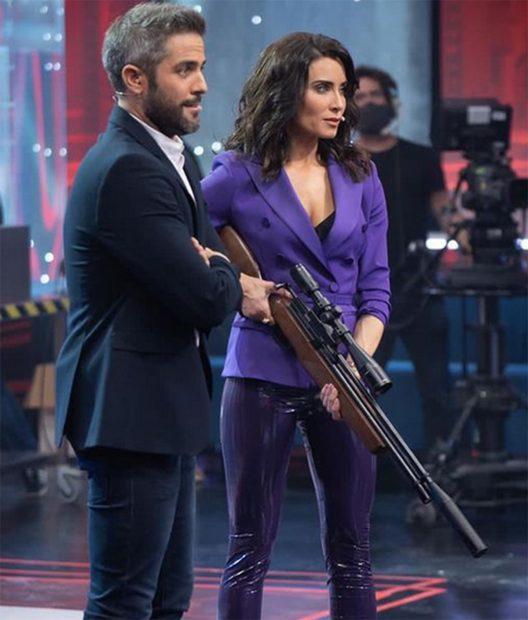 Pilar Rubio y Roberto Leal en 'El desafío'./Antena 3