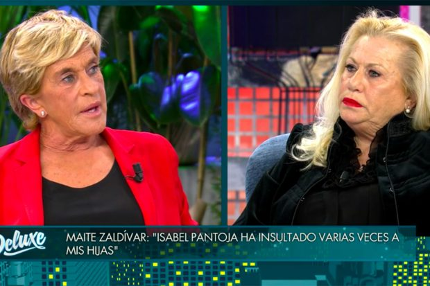 Maite Zaldívar ha estado relajada y tranquila durante la entrevista realizada por Jorge Javier Vázquez./Telecinco