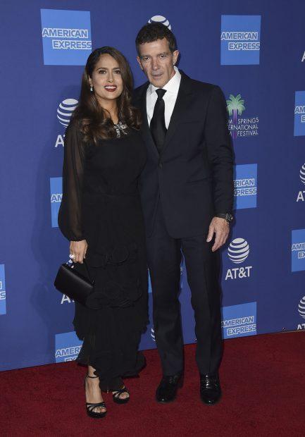 Antonio Banderas y Salma Hayek en una imagen de archivo./Gtres