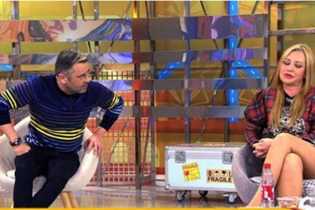 Jorge Javier Vázquez y Belén Esteban durante su último enfrentamiento./Telecinco