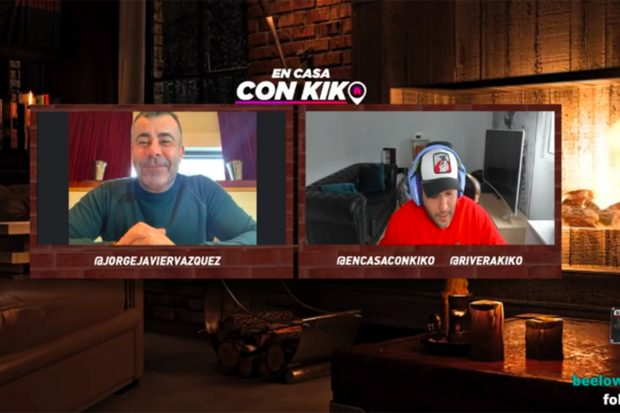 Jorge Javier Vázquez ha sido el segundo invitado al programa de Kiko Rivera./Twitch