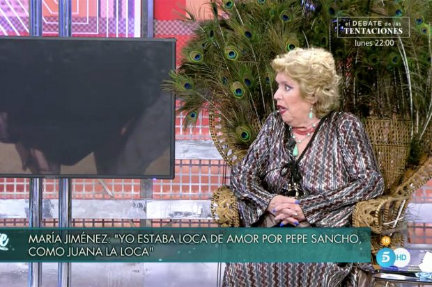 María Jiménez en 'Sábado Deluxe'./Telecinco