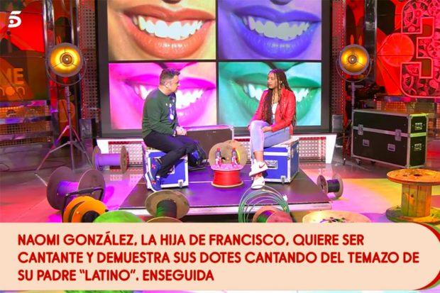 Naomi González durante una entrevista con Jorge Javier Vázquez en 'Sálvame'./Telecinco