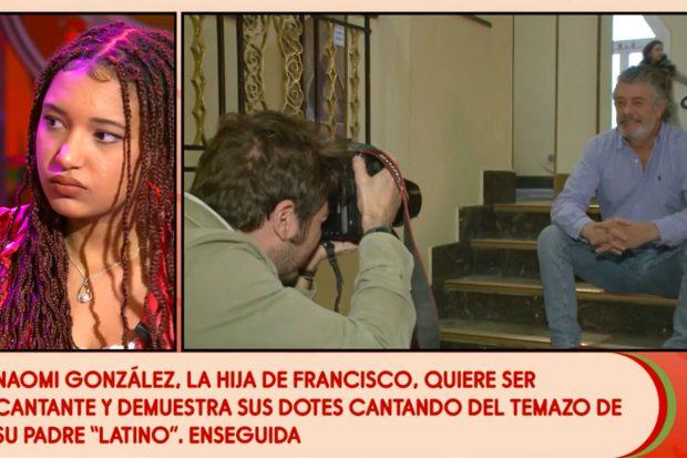 Naomi González se ha sincerado con Jorge Javier Vázquez durante su entrevista en 'Sálvame'./Telecinco