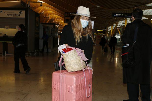 Anita Matamoros en el aeropuerto de Madrid./Gtres