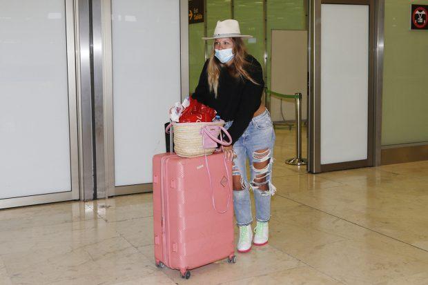 Anita Matamoros llega a Madrid tras pasar unos días en Riviera Maya./Gtres