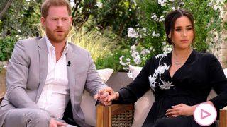 Harry y Meghan, durante la entrevista con Oprah Winfrey / CBS